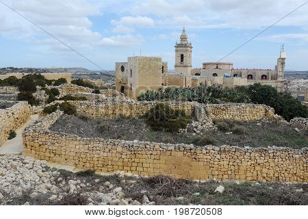 Cathedral of Assumption in Victoria, Gozo, Malta