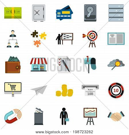 Locker icons set. Cartoon set of 25 locker vector icons for web isolated on white background