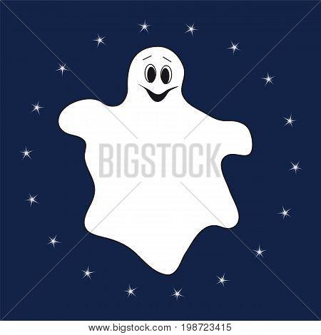 Finns ghost fling Eun Tae night ENGLISH. Halloveen card.