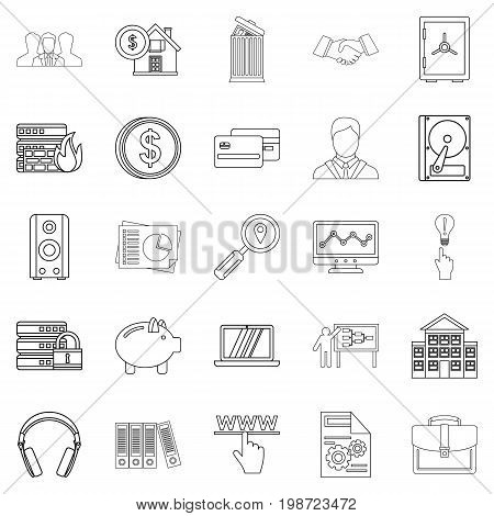 City man icons set. Outline set of 25 city man vector icons for web isolated on white background