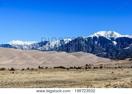 Great Sand Dunes National Park in the Colorado Rocky Mountains