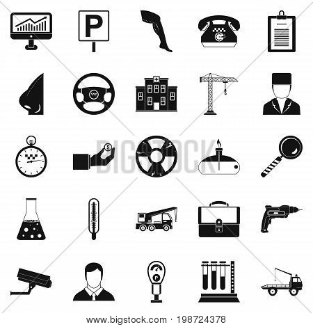 Personnel icons set. Simple set of 25 personnel vector icons for web isolated on white background