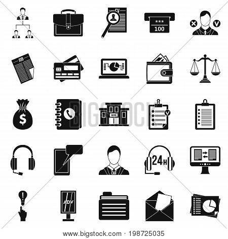 Online banking icons set. Simple set of 25 online banking vector icons for web isolated on white background