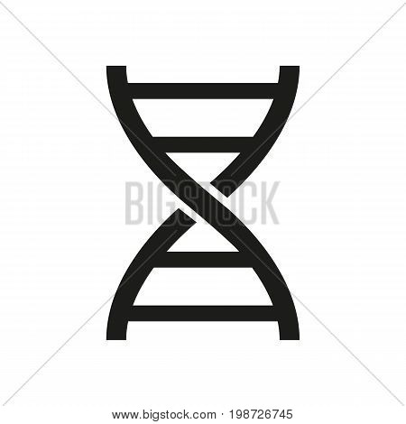 Simple icon of DNA code symbol. Genetics, biotechnology, chromosome. Knowledge concept. Can be used for topics like science, medicine, biology