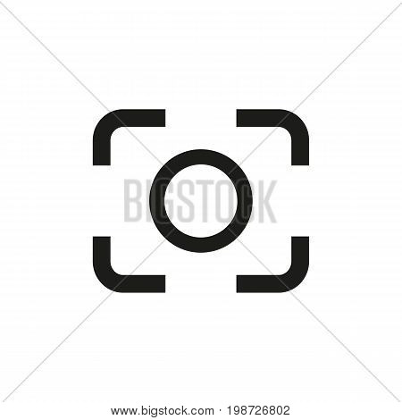 Simple icon of focus symbol. Camera, shooting, snapshot. Photography concept. Can be used for web pictograms, application and button icons