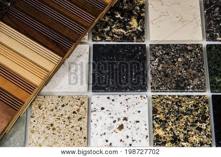Construction material. Material selection of new  home construction. Interior construction. Construction renovation concept.