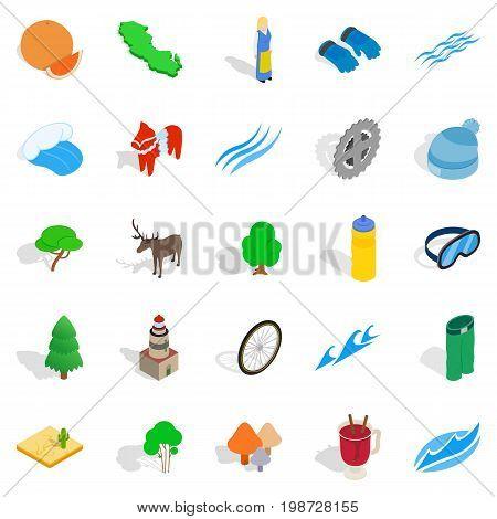 Unity icons set. Isometric set of 25 unity vector icons for web isolated on white background