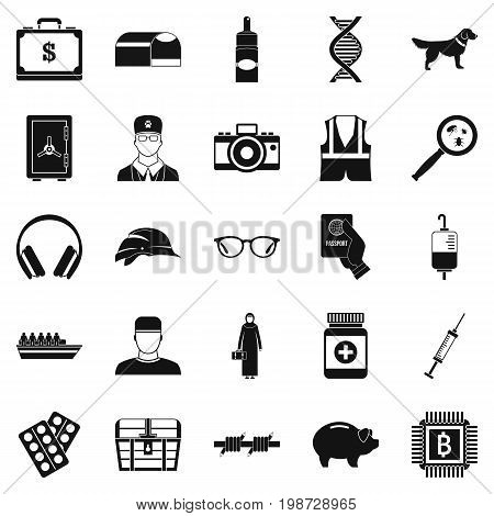 Shadowing icons set. Simple set of 25 shadowing vector icons for web isolated on white background