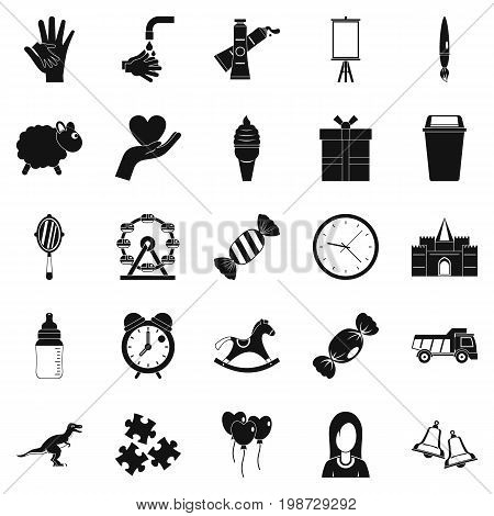 Center icons set. Simple set of 25 center vector icons for web isolated on white background