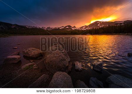 Brainard Lake At Sunset