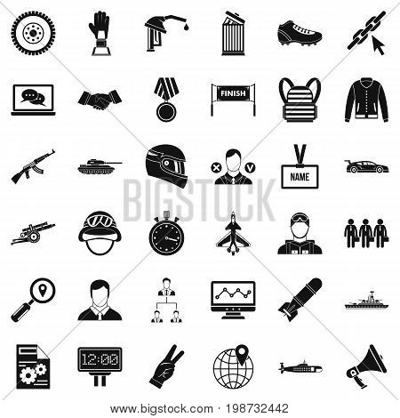 Victory icons set. Simple style of 36 victory vector icons for web isolated on white background