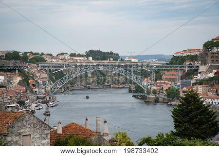 Duoro River And Maria Pia Bridge