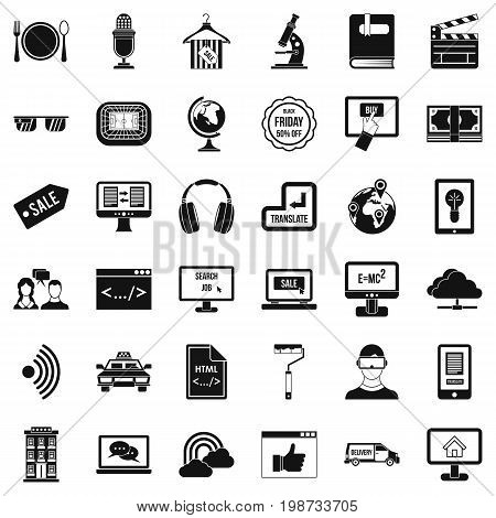 Web site icons set. Simple style of 36 web site vector icons for web isolated on white background