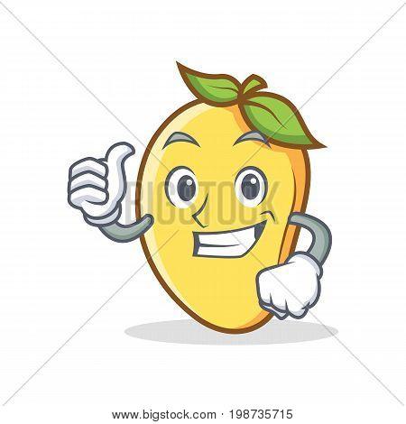 Proud mango character cartoon mascot vector illustration