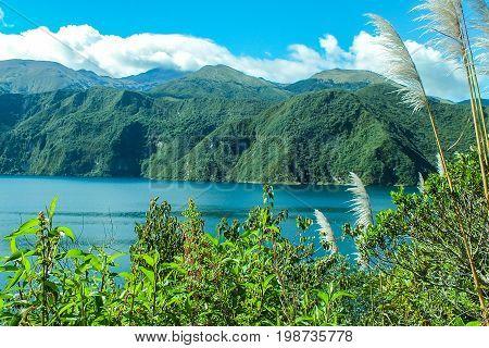 Cuicocha Lake, Andes Mountains, Caldera of a Volcano
