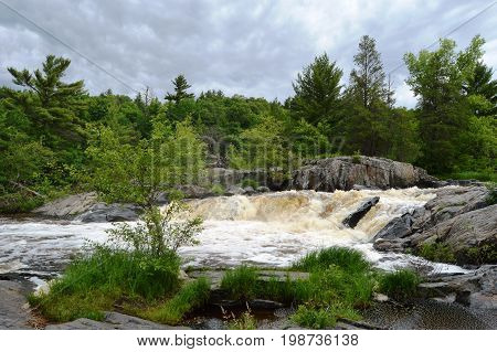 Waterfall near Eau Claire Wisconsin (Central WI)