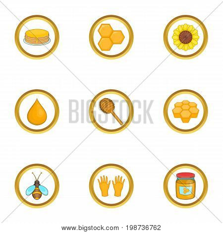 Beekeeper icons set. Cartoon set of 9 beekeeper vector icons for web isolated on white background