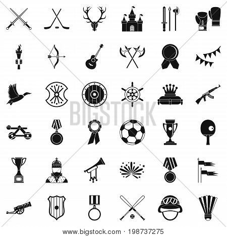 Good award icons set. Simple style of 36 good award vector icons for web isolated on white background