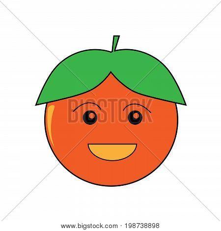 Mr. Tangerine, A cute character of tangerine/orange