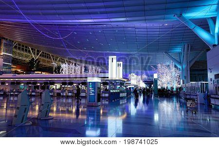 Interior Of Haneda Airport In Tokyo, Japan