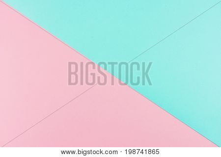 Blue Paper Background With Pink
