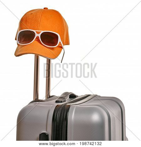 Suitcase With Hat And Glasses