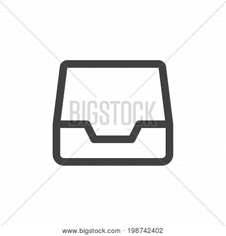 Inbox line simple icon, outline vector sign, linear style pictogram isolated on white. Symbol, logo illustration. Editable stroke. Pixel perfect vector graphics