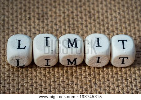 Limit Word Made From Toy Cubes With Letters