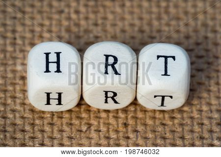 Hrt (hormone Replacement Therapy) Word Made From Toy Cubes With Letters