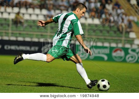 KAPOSVAR, HUNGARY - AUGUST 2: Boris Gujic in action at Hungarian National Championship soccer game between Kaposvari Rakoczi FC and Szombathelyi Haladas August 2, 2009 in Kaposvar, Hungary.