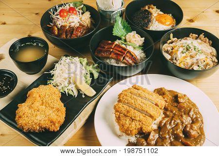 Mixing Of Donburi, Japanese Food Style