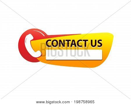 contact us icon with phone symbol, icon design, isolated on white background.