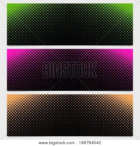 Halftone dot pattern banner design from set - vector illustration from circles in varying sizes