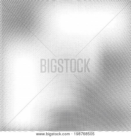 Vector abstract halftone design element. Abstract dotted gradient background. Grunge halftone textured pattern with dots.Pop art dotted template backdrop