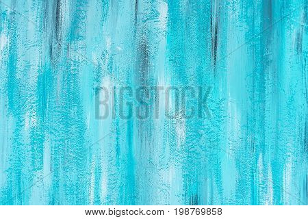 Abstract blue hand painted grunge texture background free space. Modern painted wall for backdrop or wallpaper with copy space