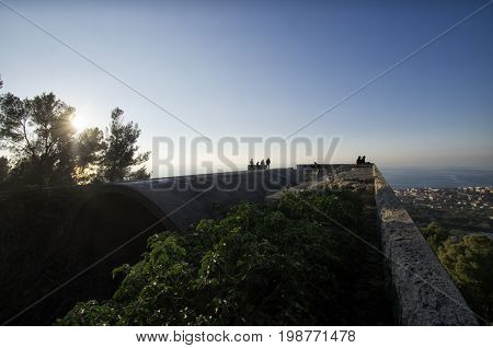 View of the sea from the Mausoleum of Ciano
