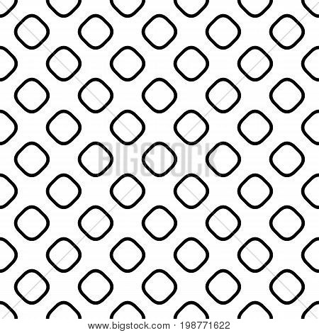 Seamless abstract monochrome square pattern - halftone vector background graphic design from diagonal rounded squares
