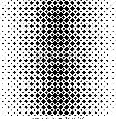 Monochromatic abstract square pattern background - black and white geometric halftone vector design from diagonal squares