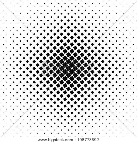 Monochrome square pattern - geometrical abstract vector background graphic from angular rounded squares