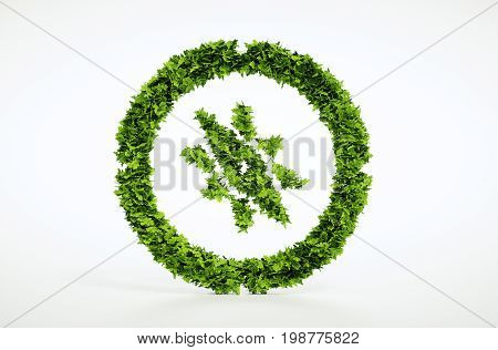 Isolated Eco Tourism Sign On White Background. 3D Illustration.