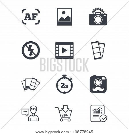 Photo, Video Icons. Vector & Photo (Free Trial) | Bigstock