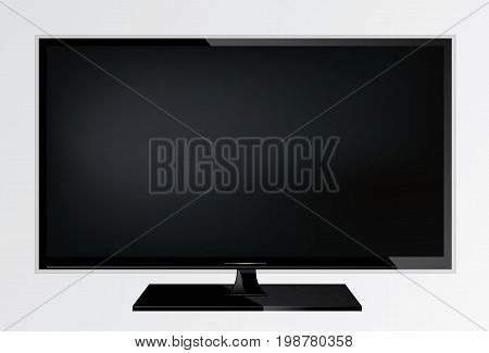 plasma lcd modern tv screen on a stand