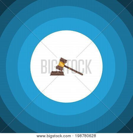 Court Vector Element Can Be Used For Crime, Court, Hammer Design Concept.  Isolated Crime Flat Icon.