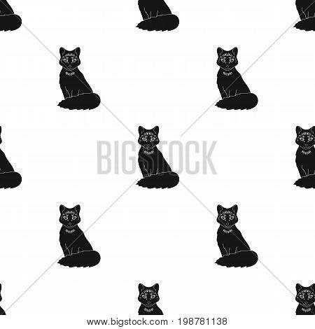 Red fox.Animals single icon in black style vector symbol stock illustration .
