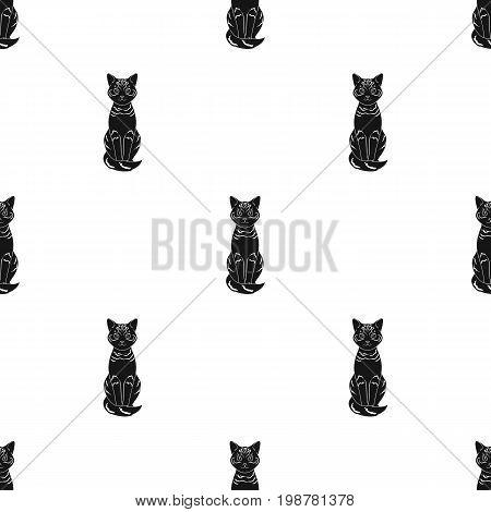 Gray cat.Animals single icon in black style vector symbol stock illustration .