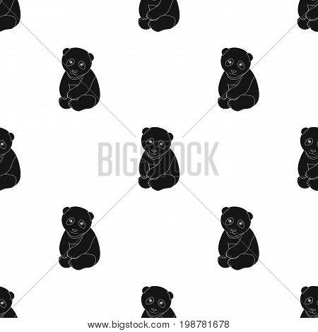 Panda.Animals single icon in black style vector symbol stock illustration .