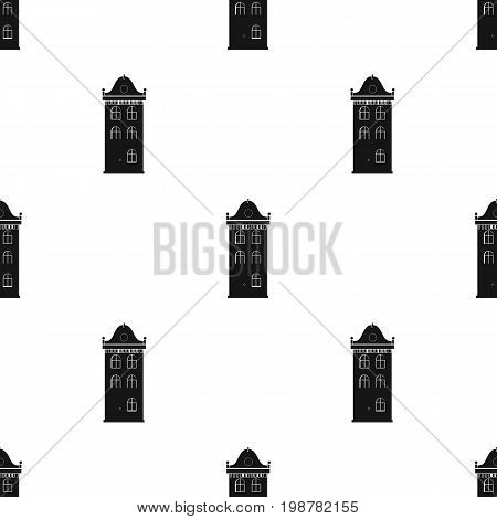 Building icon in black design isolated on white background. Architect symbol stock vector illustration.