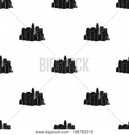 Megalopolis icon in black design isolated on white background. Architect symbol stock vector illustration.