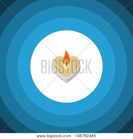 Flat Icon Passion Set Of Candle Vector Objects