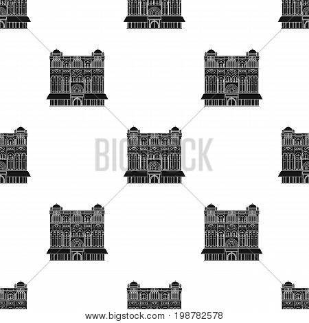 Queen Victoria Building icon in black design isolated on white background. Australia symbol stock vector illustration.